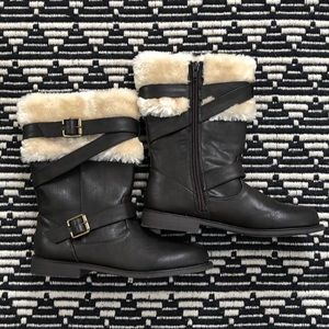 Self Esteem Brown Fur Buckle Boots Girls 2